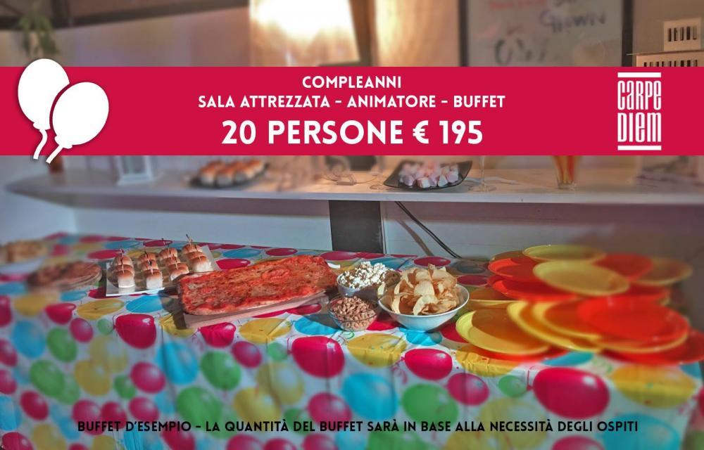 Offerta per Compleanni e Feste da Ristorante Pizzeria Pub Carpe Diem a Viareggio